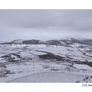 Wicklow Mountains Snow 2010 (Image 6) with boarder & signature