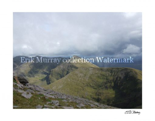 view from carrauntoohil with boarder and signature