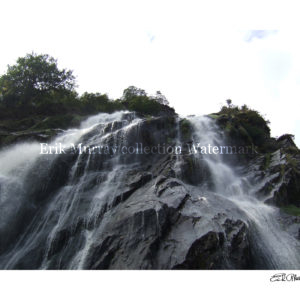 wicklow powerscourt waterfall with boarder & signature